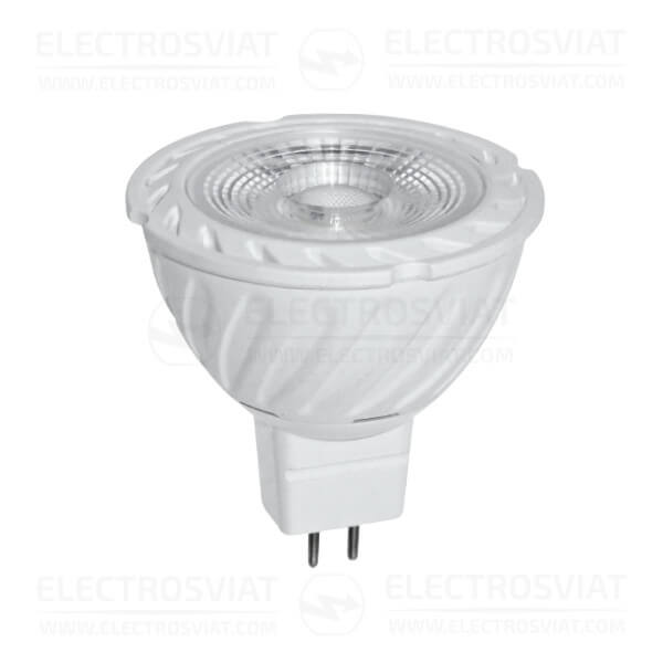 LED ЛУНИЧКА 6W, MR16, 2700K, 220 VAC AC, ТОПЛА СВЕТЛИНА, COB